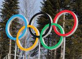 奥运五环 — 图库照片