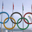 Stock Photo: Olympic rings in Olympic park