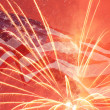 Independence Day fireworks — Stock Photo
