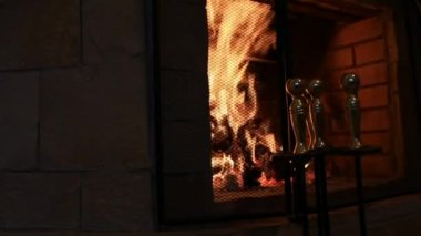 Fireplace — Vídeo Stock