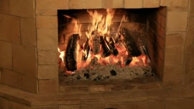 Fireplace — Stock Video
