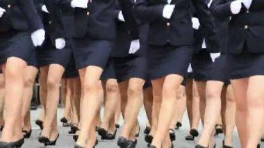 Woman troops — Stock Video
