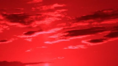 Red sky darkness — Video Stock