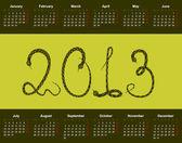 календарь на 2013 год — Cтоковый вектор