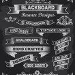 Blackboard Chalkboard Design Elements — Stock Vector