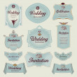 Vintage Label - Wedding Invitation — Stock Vector