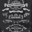 Vintage Hand Drawn Chalkboard Vector Design Elements — Stock Vector