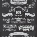 Blackboard Chalkboard Design Elements — Stock Vector #36725901