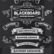 Chalkboard Hand Drawn Vintage Vector Design Elements — Stock Vector