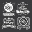 Vintage calligraphy chalkboard labels and banner frames — Stock Vector