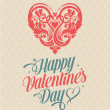Happy Valentines Day Greeting Card — Imagen vectorial