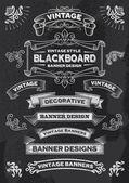 Blackboard Chalkboard Design Elements — Stock Vector