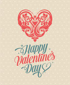 Happy Valentines Day Greeting Card — Stock Vector