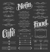 Chalkboard vintage calligraphy vector elements — Stock Vector