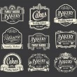 Calligraphic vector sign and label set. Bakery and cake label design elements — Stock Vector #46227749