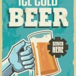 Vintage retro beer poster. Vector design sign — Stock Vector
