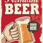 Vintage retro beer poster — Stock Vector