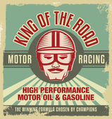 Vintage metall skylt. retro garage affisch — Stockvektor