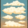 Vintage Clouds — Stock Vector #46236431