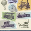 Vintage transportation vector illustration — Stock Vector
