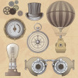 Vintage Steampunk vector design elements — Stock Vector