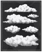 Chalkboard vintage clouds background — Stock Vector