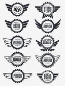 Retro Vintage Badge Design Set — Stock Vector
