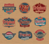 Vintage retro label and badges - Vector design elements — Stock Vector