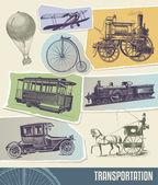Vintage transportation vector illustration — Stock Vector
