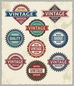Conjunto de placas vintage retro y etiquetas — Vector de stock