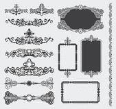 Vintage retro calligraphic scroll set — Stock Vector