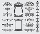 Vintage Decorative Design Elements — Stock Vector