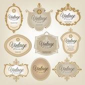 Vintage etiketten — Stockvector