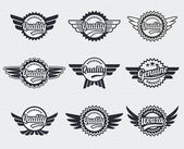 Quality premium label badges - retro vintage style — Stock Vector