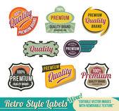 Vintage Retro Labels — Stock Vector