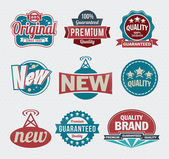 Vector set of vintage retro label and icon design set — Stock Vector