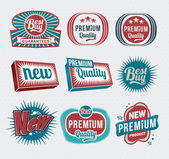 Retro vintage label and badge design set — Stockvektor