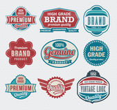 Set of premium quality guarantee label and badge set — Stock Vector