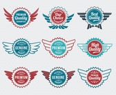 Retro, vintage badge and label vector icon set — Stock Vector