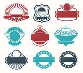 Retro vintage label badges — Stock Vector