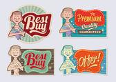 Retro vintage reklam etikett designelement — Stockvektor