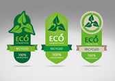 Ecological recycle labels - logo vector icons — Stock Vector