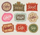 Vector set of doodle labels — Vetorial Stock