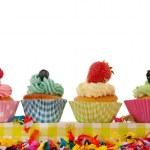 Birthday cupcakes — Stock Photo #10560500