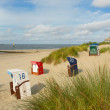 Beach chairs on Borkum island — Stock Photo #12633757
