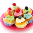Fruit cupcakes - Stock Photo