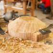 Artisan wood work — Stock Photo
