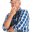 Eating an apple - Stock Photo