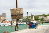 Crane in harbor Dieppe — Stock Photo