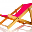 Pink beach chair — Stock Photo